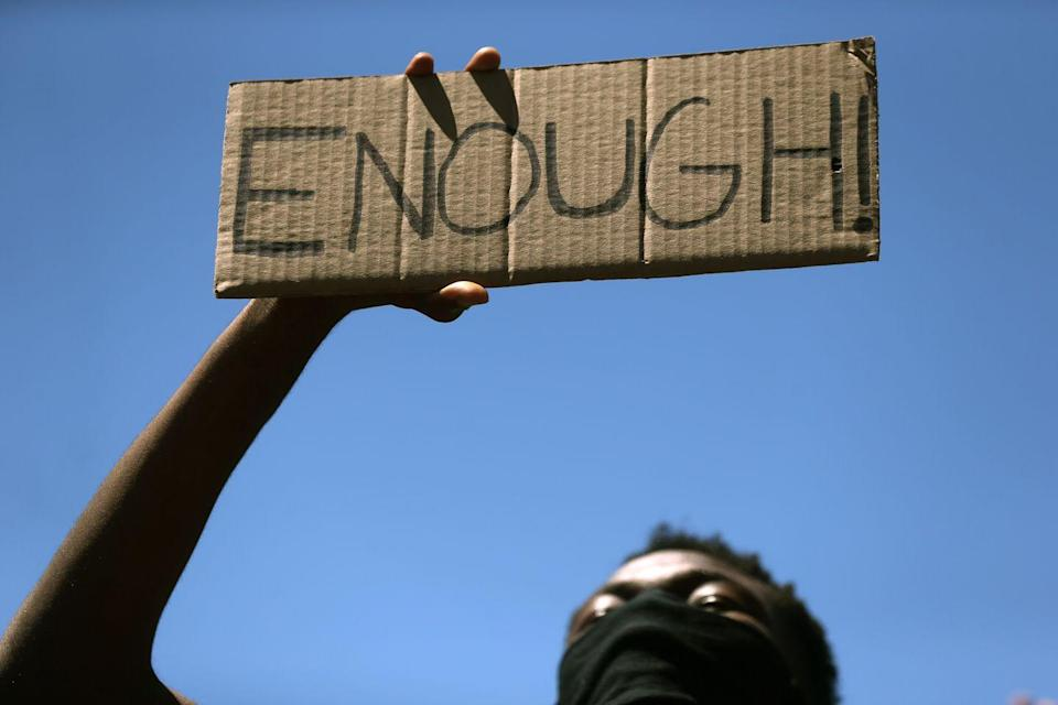 "<p>Short, simple, to the point: Enough is ""enough.""</p>"