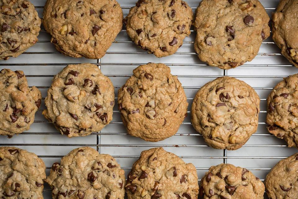 """<p>You're going to want to claim this recipe as your own.</p><p>Get the recipe from <a href=""""https://www.oprahdaily.com/cooking/recipe-ideas/recipes/a46278/copycat-doubletree-chocolate-chip-cookies-recipe/"""" rel=""""nofollow noopener"""" target=""""_blank"""" data-ylk=""""slk:Delish"""" class=""""link rapid-noclick-resp"""">Delish</a>.</p>"""