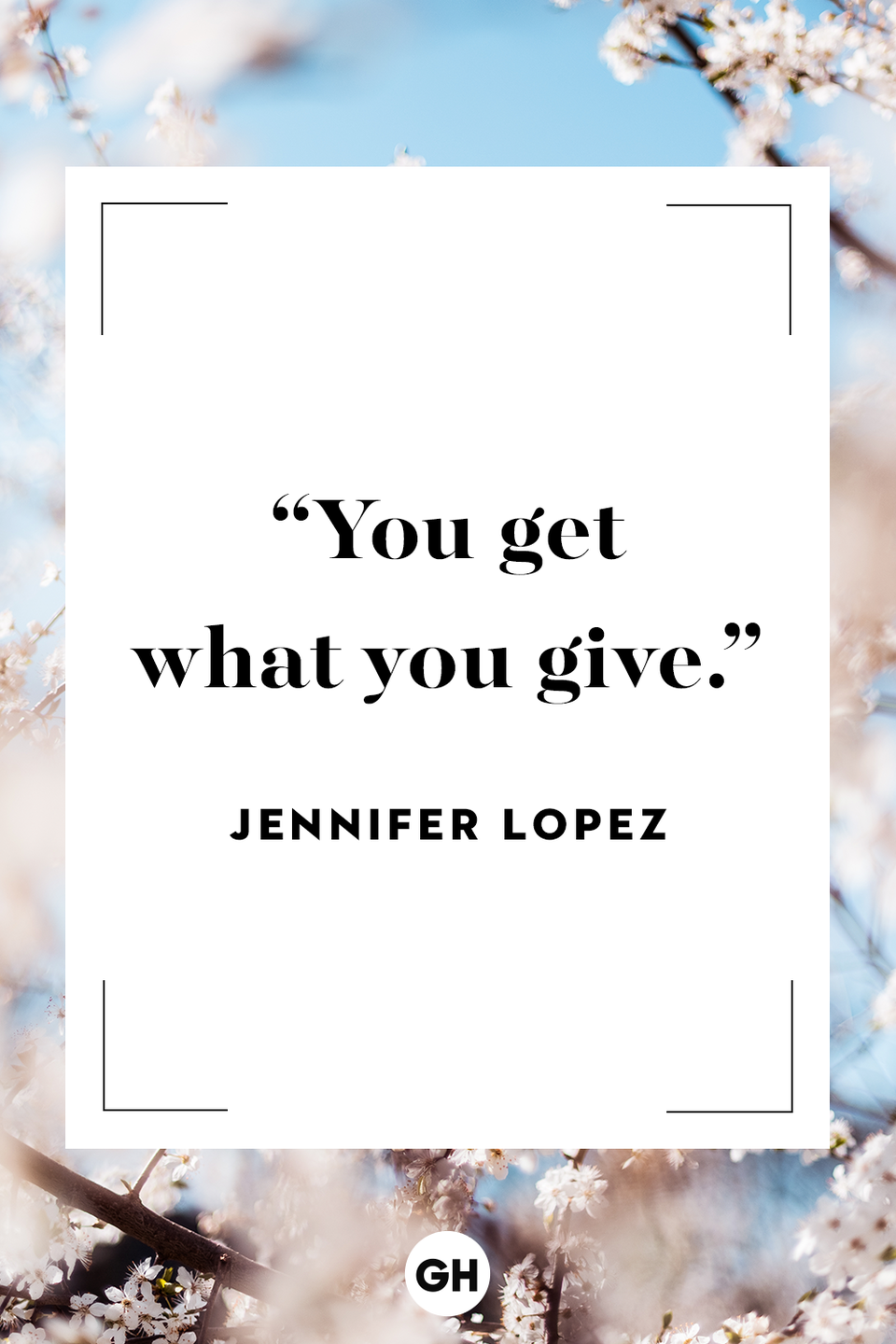 <p>You get what you give.</p>