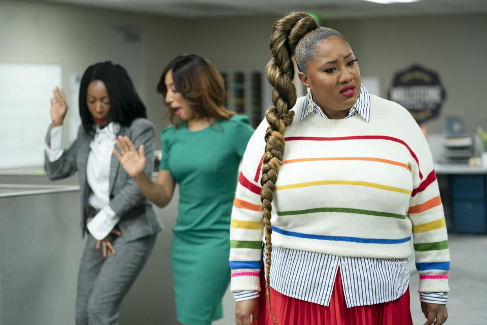 """A still from """"A Black Lady Sketch Show."""" - Credit: Ali Paige Goldstein/HBO Max"""