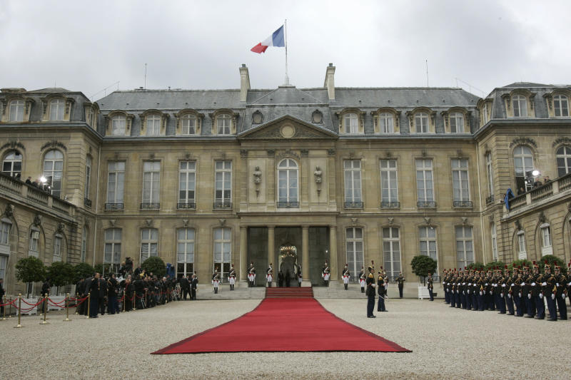 FILE - In this May, 16 2007 file photo, the Elysee Palace, which hosts the French presidency, is seen in Paris. The presidential elections will take place on Sunday Aprill 22 and May 6, 2012. (AP Photo/Christophe Ena, Pool)