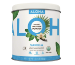 """<p><strong>ALOHA</strong></p><p>amazon.com</p><p><strong>$25.92</strong></p><p><a href=""""https://www.amazon.com/dp/B00ZY7UR8O?tag=syn-yahoo-20&ascsubtag=%5Bartid%7C10055.g.35084321%5Bsrc%7Cyahoo-us"""" rel=""""nofollow noopener"""" target=""""_blank"""" data-ylk=""""slk:Shop Now"""" class=""""link rapid-noclick-resp"""">Shop Now</a></p><p>If you're looking for a flavored vegan protein powder, it can be hard to find varieties made without stevia or erythritol. But ALOHA, known for their <a href=""""https://www.goodhousekeeping.com/food-products/g33597593/best-protein-bars/"""" rel=""""nofollow noopener"""" target=""""_blank"""" data-ylk=""""slk:protein bars"""" class=""""link rapid-noclick-resp"""">protein bars</a>, offers this organic protein powder that uses a bit of coconut sugar, monk fruit, and ground vanilla beans for flavor. <strong>It only has 3 grams of sugar for two scoops, but packs in 18 grams of protein and only 120 calories.</strong> If a <a href=""""https://www.amazon.com/ALOHA-Organic-Protein-Coconut-Non-GMO/dp/B07PML2DCL?th=1"""" rel=""""nofollow noopener"""" target=""""_blank"""" data-ylk=""""slk:pre-made shake"""" class=""""link rapid-noclick-resp"""">pre-made shake </a>is more your thing, they offer that too.</p>"""