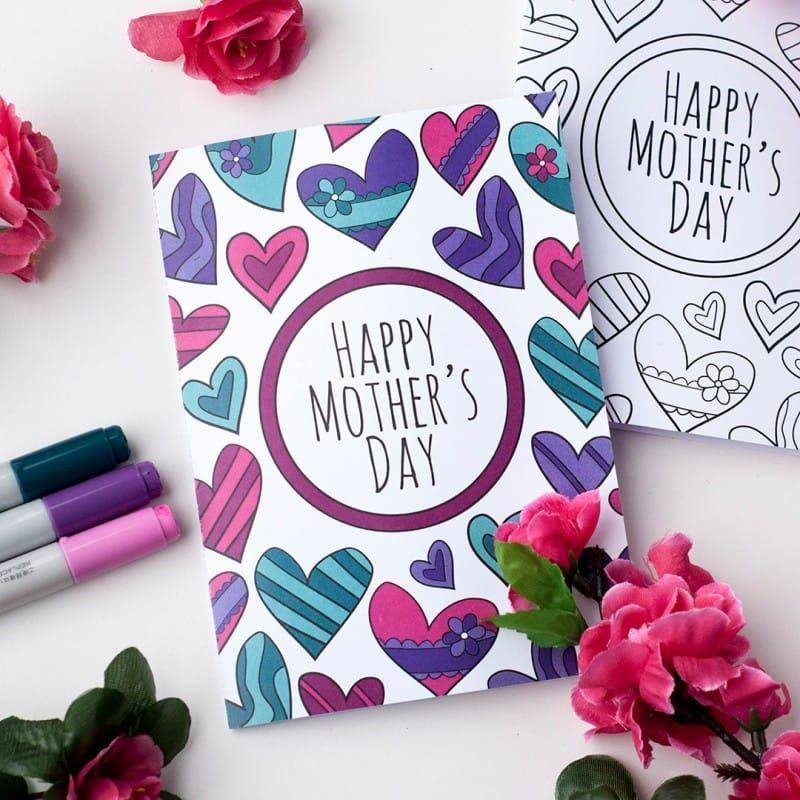 """<p>This free set comes with three Mother's Day cards—two colored and one that can be filled in by your little ones (perhaps to surprise Grandma!). </p><p><strong>Get the printables at <a href=""""https://sarahrenaeclark.com/shop/free-mothers-day-coloring-card/"""" rel=""""nofollow noopener"""" target=""""_blank"""" data-ylk=""""slk:Sarah Renae Clark"""" class=""""link rapid-noclick-resp"""">Sarah Renae Clark</a>. </strong></p><p><strong><a class=""""link rapid-noclick-resp"""" href=""""https://www.amazon.com/Sharpie-Permanent-Markers-Cosmic-Limited/dp/B077GF2KXT/?tag=syn-yahoo-20&ascsubtag=%5Bartid%7C10050.g.3195%5Bsrc%7Cyahoo-us"""" rel=""""nofollow noopener"""" target=""""_blank"""" data-ylk=""""slk:SHOP MARKERS"""">SHOP MARKERS</a><br></strong></p>"""