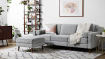 <p><span>Burrow Nomad Velvet Sofa with Ottoman</span> ($1,940, plus $200 off in cart)</p>