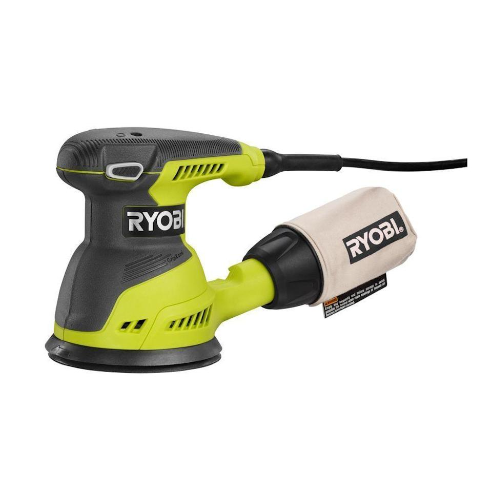 """<p><strong>RYOBI</strong></p><p>amazon.com</p><p><strong>$64.61</strong></p><p><a href=""""https://www.amazon.com/dp/B00P8FI1XK?tag=syn-yahoo-20&ascsubtag=%5Bartid%7C10060.g.26626730%5Bsrc%7Cyahoo-us"""" rel=""""nofollow noopener"""" target=""""_blank"""" data-ylk=""""slk:Buy Now"""" class=""""link rapid-noclick-resp"""">Buy Now</a></p><p><strong>Weight: </strong>4 lb.</p><p>The RS290G is a simple and solid sander, but its dust-control bag is not nearly as efficient as the airtight canisters on the Bosch or the Milwaukee. This isn't to say that it does a poor job picking up dust, considering its competitors do a nearly flawless job. This Ryobi sands with good speed and power and completed sanding its test areas in about the same amount of time as its competitors. In terms of the quality of sanded surface it produces, we'd say that it's surprisingly good for the price, even if it's not as good as with the Milwaukee or the Bosch.</p>"""