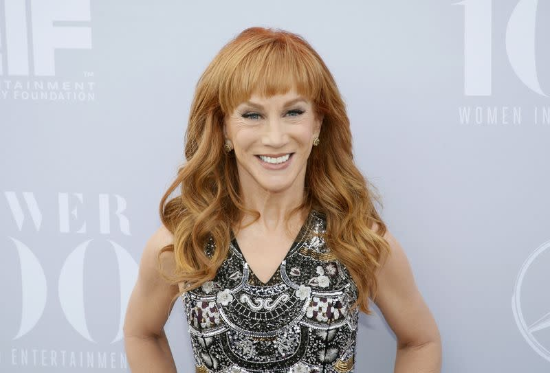 FILE PHOTO: Comedian Kathy Griffin poses at The Hollywood Reporter's Annual Women in Entertainment Breakfast in Los Angeles, California