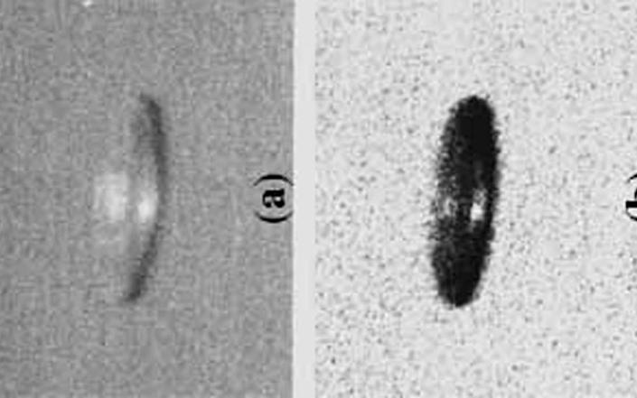 A possible UFO sighting, as pictured in a 1998 report by the Journal of Scientific Exploration - Reuters