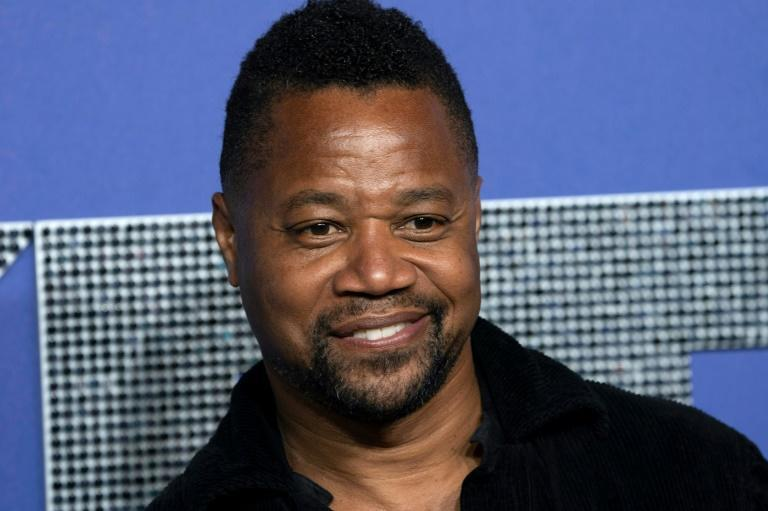 Cuba Gooding Jr, pictured in May 2019, denies charges of forcible touching, for which he could face up to a year in prison if convicted (AFP Photo/Don Emmert)