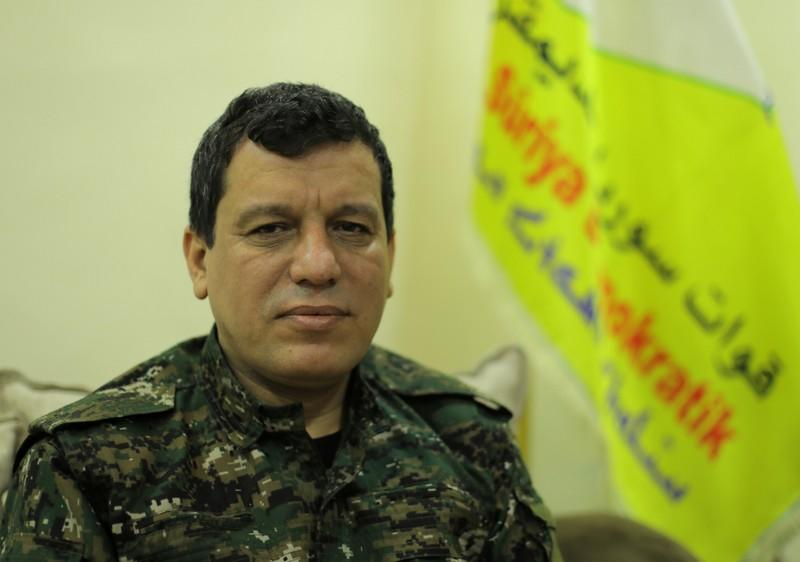 Mazloum Kobani, SDF commander in chief is pictured during an interview with Reuters in Ain Issa
