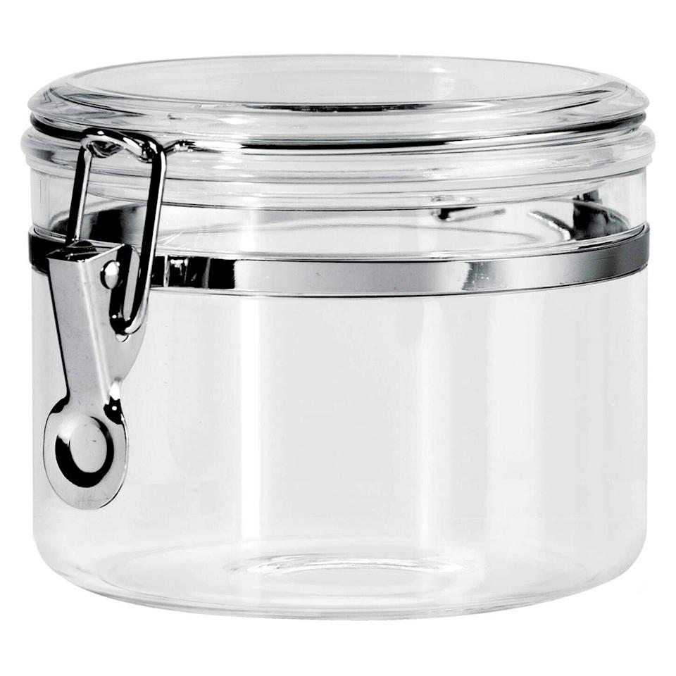 Oggi 28-Ounce Clear Acrylic Canister with Locking Clamp