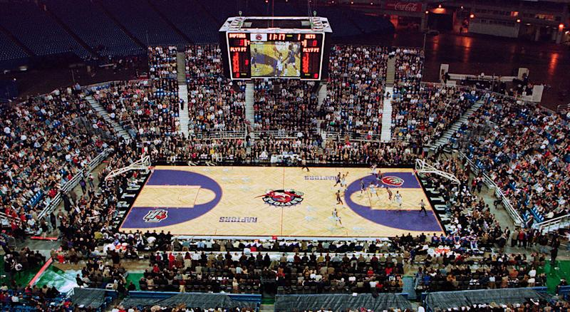 A lot has changed since the Raptors first stepped onto the SkyDome court in 1995. (Moe Doiron/CP)