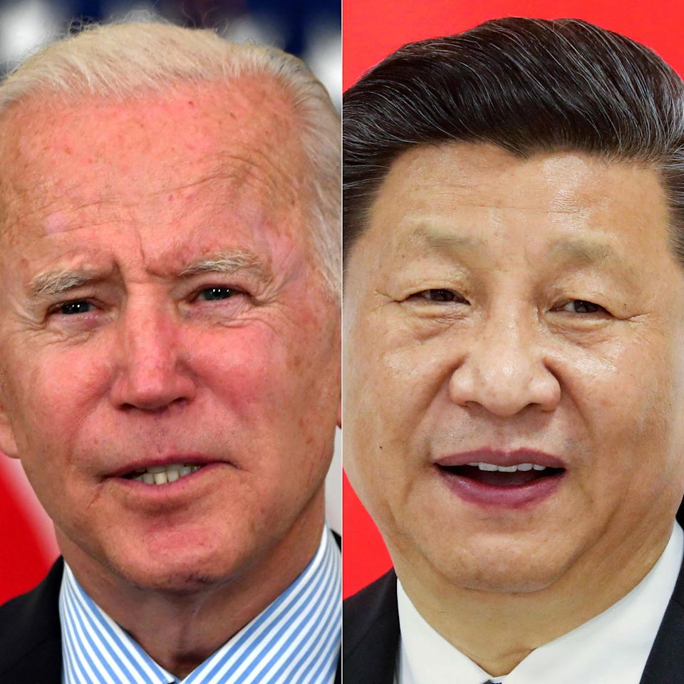 US President Joe Biden (L) and Chinese President Xi Jinping  (AFP via Getty Images)
