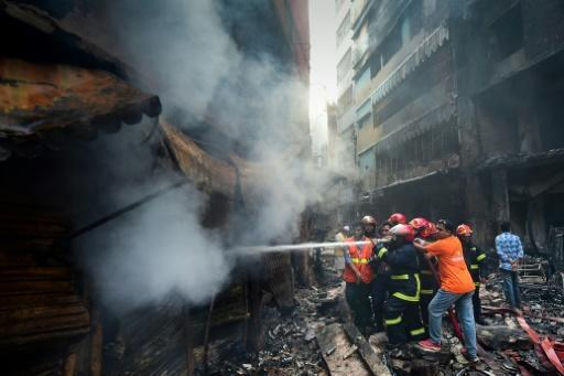 Firefighters were hampered by the narrow streets and a lack of water to fight the inferno