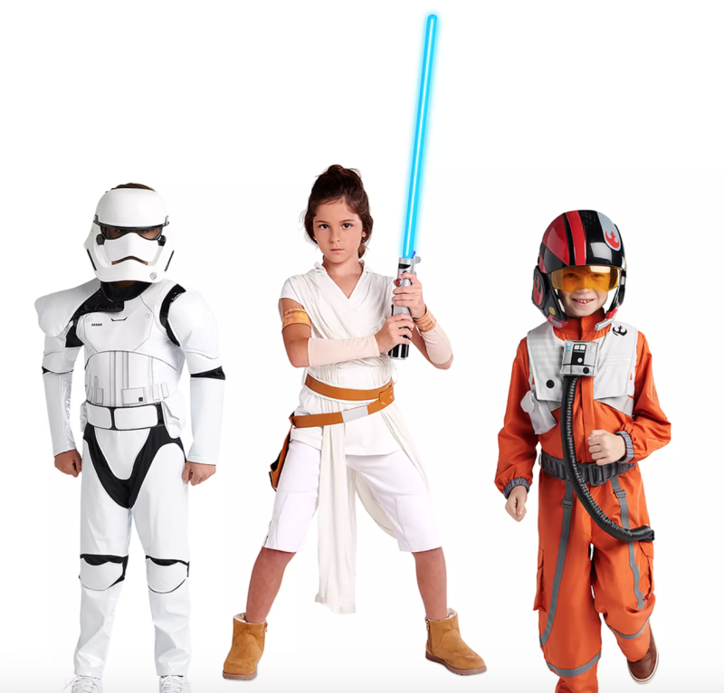 Star Wars: The Rise of Skywalker Halloween Costumes. Image via Disney.