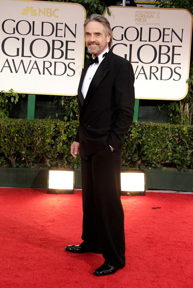 Jeremy Irons arrives at the 69th Annual Golden Globe Awards in Beverly Hills, California, on January 15.