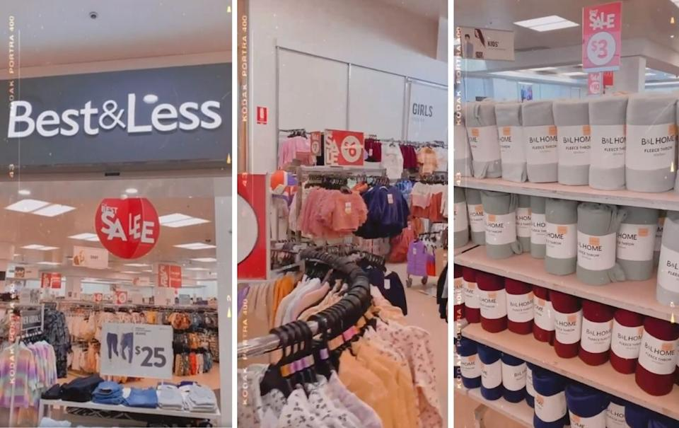 Best & Less aisles and logo