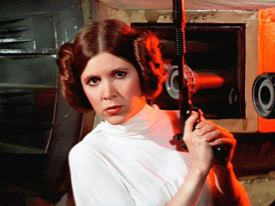 Carrie Fisher as Leia in the original <i>Star Wars.</i> (Photo: Lucasfilm)