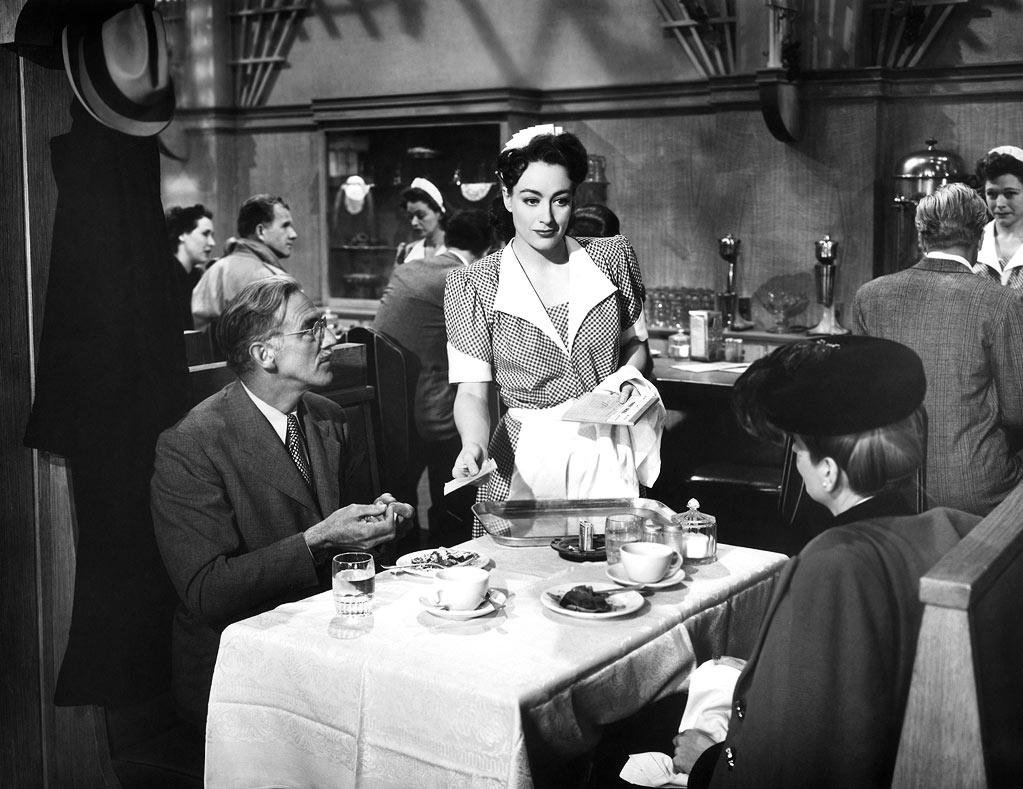 """Joan Crawford, """"<a href=""""http://movies.yahoo.com/movie/mildred-pierce/"""">Mildred Pierce</a>"""" - I know I'm leaning toward excess, but if you want a little bit of heart in this thing, I would point to Crawford herself in the great melodrama Michael Curtiz directed, """"Mildred Pierce"""" (1945), which I equate with that dark, post-war period. Crawford is unbelievably good, and won the Oscar opposite Zachary Scott and Jack Carson as a woman determined to provide a better life for her daughter. Unfortunately, the daughter turns out to be a rotten apple. In the same vein, let's not forget Barbara Stanwyck in """"Stella Dallas"""" (1937), or in """"Double Indemnity"""" (1944) and a dozen other roles."""
