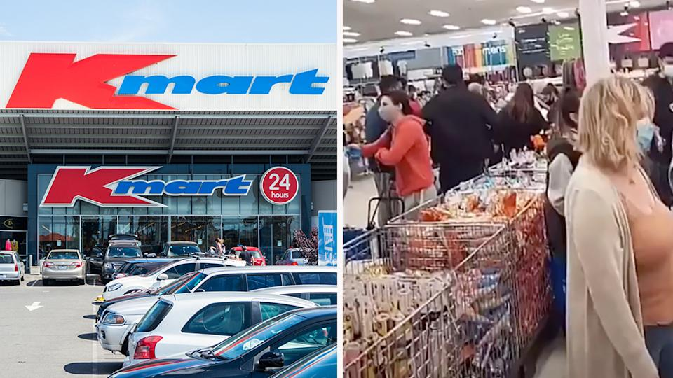Melbourne Kmart fans flooded the 24/7 stores that opened on Tuesday night. Photo: Getty/TikTok