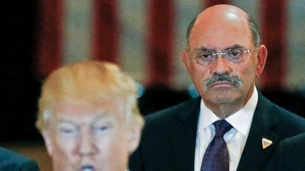 PHOTO: Trump Organization chief financial officer Allen Weisselberg looks on as then-U.S. Republican presidential candidate Donald Trump speaks during a news conference at Trump Tower in Manhattan, New York, U.S., May 31, 2016.  (Carlo Allegri/Reuters)