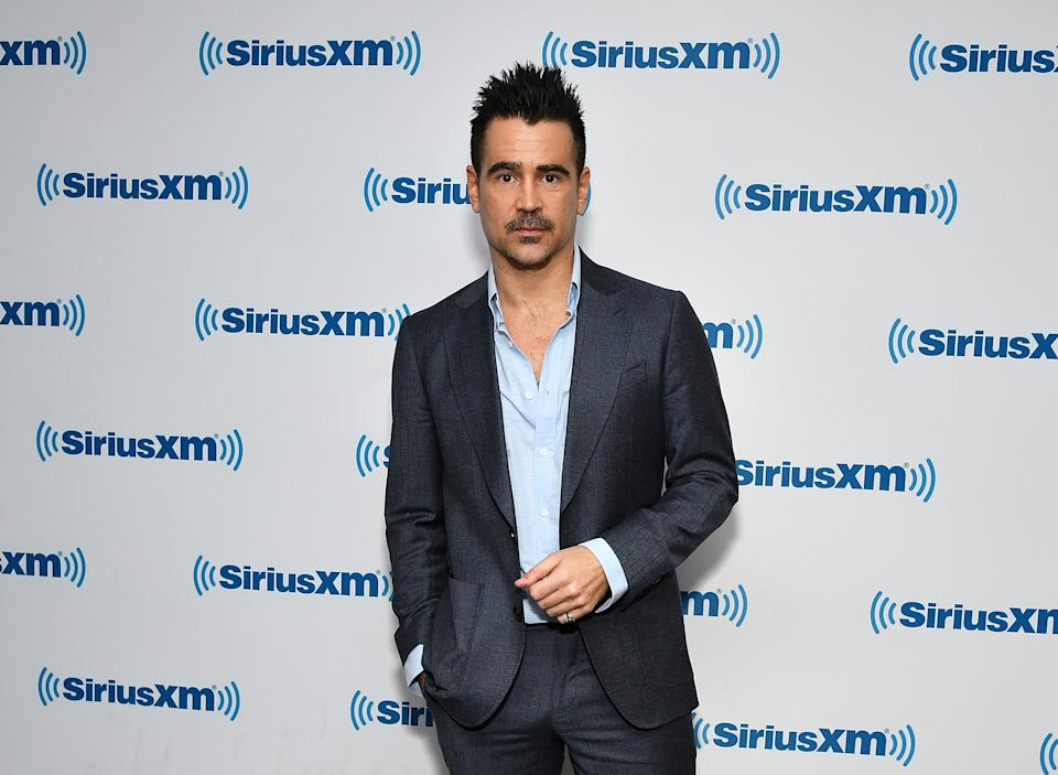 NEW YORK, NY - MARCH 26:  (EXCLUSIVE COVERAGE) Actor Colin Farrell visits SiriusXM Studios on March 26, 2019 in New York City.  (Photo by Slaven Vlasic/Getty Images)