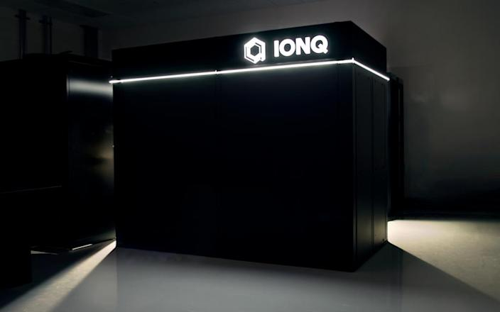 IonQ Enclosure — the outer enclosure for IonQ's next-generation system. It doesn't just look cool, it also creates a highly stable environment (acoustics, temperature, humidity) for the system.