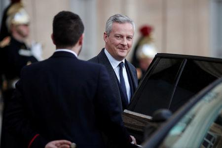 FILE PHOTO - French Finance Minister Bruno Le Maire leaves the Elysee Palace after the first weekly cabinet meeting of the year and a government seminar in Paris