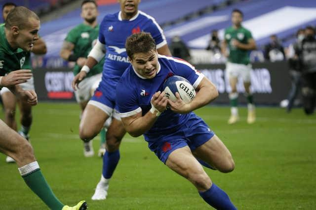 France scrum-half Antoine Dupont was among the try scorers when Ireland lost in Paris at the end of October