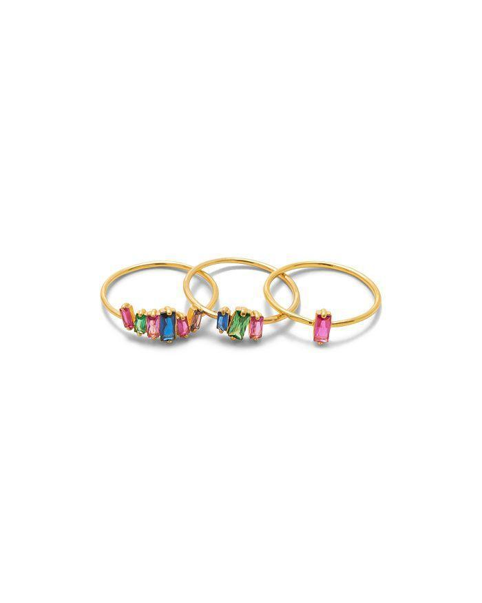 """<p><strong>Gorjana</strong></p><p>bloomingdales.com</p><p><strong>$55.00</strong></p><p><a href=""""https://www.bloomingdales.com/shop/product/gorjana-amara-stackable-rings-set-of-3?ID=3210552"""" rel=""""nofollow noopener"""" target=""""_blank"""" data-ylk=""""slk:SHOP IT"""" class=""""link rapid-noclick-resp"""">SHOP IT</a></p><p>Bored of your thin gold stackable rings? This set of three from Gorjana (FYI Michelle Obama <a href=""""https://www.marieclaire.com/fashion/a25305123/michelle-obama-rose-gold-gorjana-necklace/"""" rel=""""nofollow noopener"""" target=""""_blank"""" data-ylk=""""slk:loves this brand"""" class=""""link rapid-noclick-resp"""">loves this brand</a>) will switch things up. Pair one or two of these rainbow cubic zirconia pieces with your classic gold bracelets without changing your usual accessory routine.</p>"""