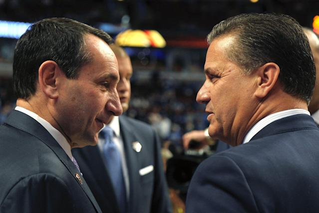 Mike Krzyzewski and John Calipari have a new rival on the recruiting trail. (Getty Images)