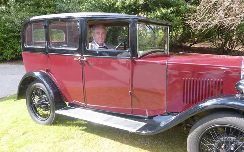 Bert Davidson reunited with the classic 1929 Humber saloon today, which he last drove in the 1950s - Credit: Robin Wills