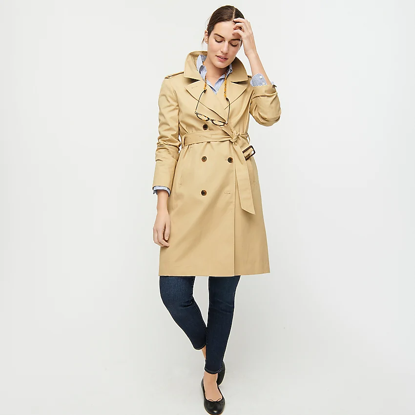 """<h3><strong>J.Crew 2011 Icon Trench</strong></h3><br><strong>Why It's A Best Buy</strong>: A trench coat is functional fashion at its most stylish — and this J.Cew style with a lapel-collar and structured frame is a classic transitional-outerwear staple you won't regret investing in.<br><br><strong>The Review</strong>: """"Stylish Updated Classic. This is a marvelous coat. The little details make it so much better than other trench coats. It is fully lined and the lining has contrast edging. The underside of the collar is navy. Somehow it appears slimming. It looks good over pants as well as skirts, jeans as well as professional wear. I recommend this item."""" <em>– J.Crew Reviewer</em><br><br><strong>J.Crew</strong> 2011 Icon trench, $, available at <a href=""""https://go.skimresources.com/?id=30283X879131&url=https%3A%2F%2Fwww.jcrew.com%2Fp%2Fshops%2F40_off_fall_layers1%2Fcoatsjackets%2Fwomens-2011-icon-trench%2FH5852"""" rel=""""nofollow noopener"""" target=""""_blank"""" data-ylk=""""slk:J.Crew"""" class=""""link rapid-noclick-resp"""">J.Crew</a>"""