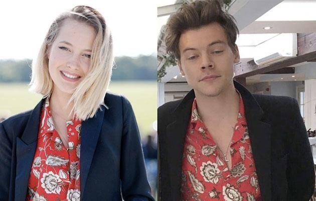 They apparently connected over their mutual love of 'quirky' fashion and were both pictured wearing the same floral shirt. Source: Twitter