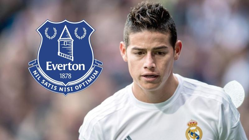 Everton ya estaría negociando con Real Madrid por James Rodríguez