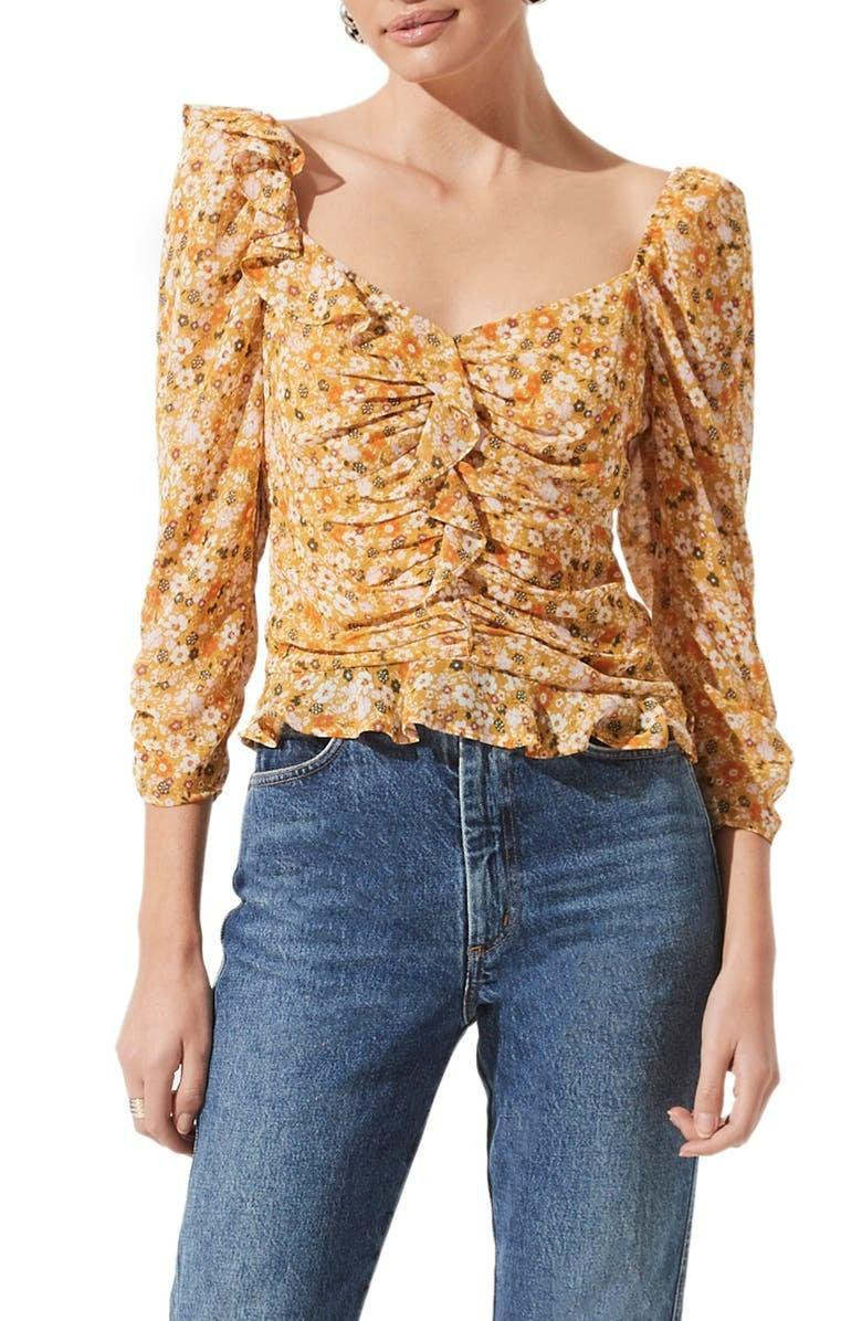 <p>If you're feeling like adding some much-needed flair to your collection, all you need to start is the <span>ASTR the Label Ruched Sleeve Blouse</span> ($33, originally $55). It's fun yet sophisticated and easy to mix and match outfits with.</p>