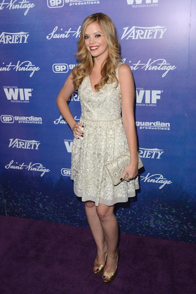 Actress Dreama Walker arrives at Variety and Women in Film Pre-EMMY Event presented by Saint Vintage at Montage Beverly Hills on September 21, 2012 in Beverly Hills, California.  (Photo by Jason Merritt/WireImage)