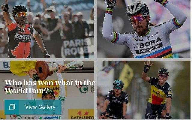Who has won what in the WorldTour?