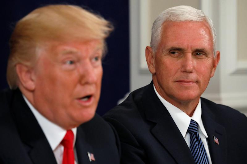 "President Donald Trump joked that Vice President Mike Pence ""wants to hang"" all gay people, according to a profile of Pence published in The New Yorker on Monday."