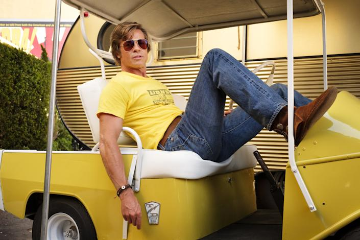 Brad Pitt as Cliff Booth in Once Upon A Time In Hollywood (Credit: Sony)