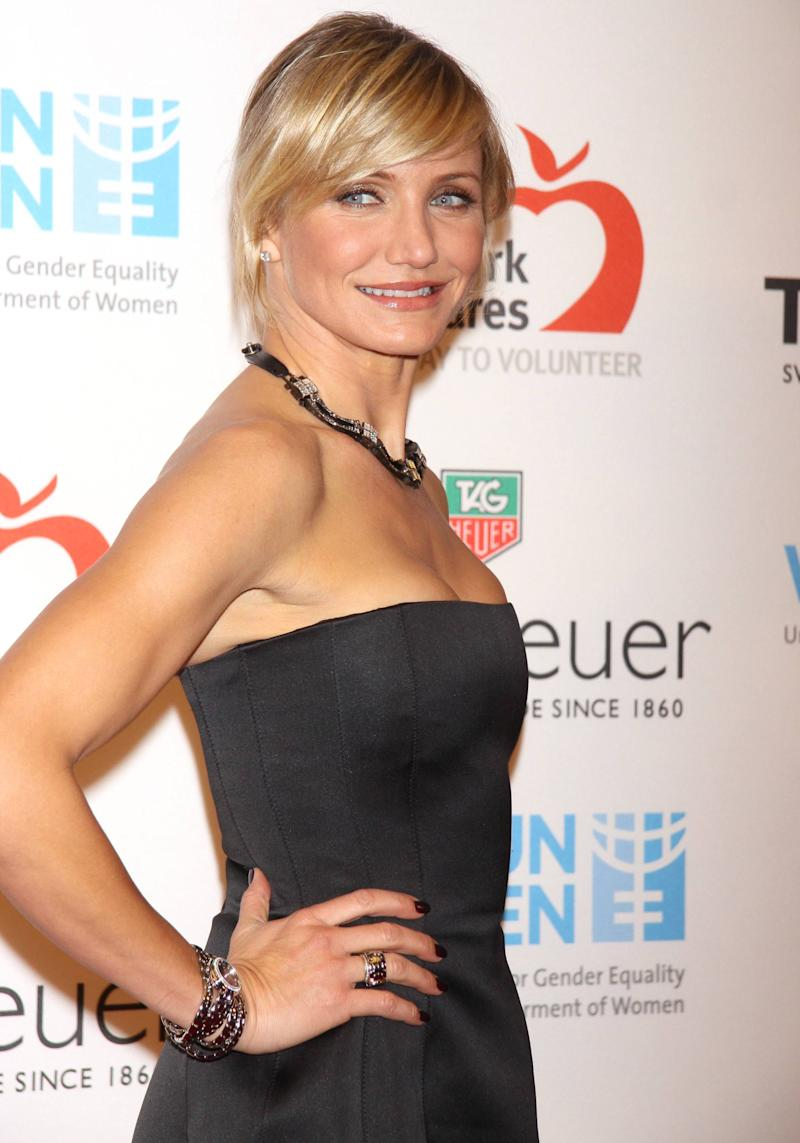 Cameron Diaz  joins TAG Heuer to raise money for UN Women and New York Cares' Hurricane Sandy Relief Effort, benefit held at the Museum of Natural History New York City, USA � 10.11.12 Mandatory Credit: Joseph Marzullo/WENN.com