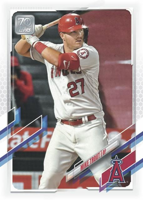 Mike Trout trading card.