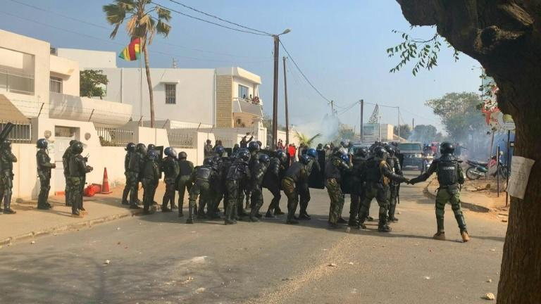 "The Senegal government on Friday vowed to use ""all means necessary"" to return order after police fired tear gas in clashes with supporters of opposition leader Ousmane Sonko as the interior minister said four people had died."