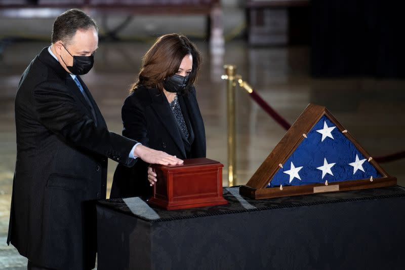 Ceremony for U.S. Capitol Police officer Brian D. Sicknick, in Washington