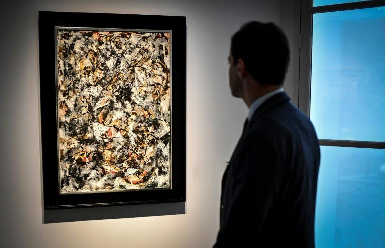 """Composition with Red Strokes"" by Jackson Pollock is also part of the Barney Ebsworth Collection going under the hammer in New York"