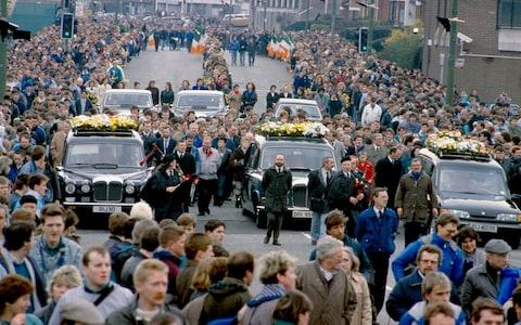 Chequered history: the funeral of the Gibraltar Three in 1988