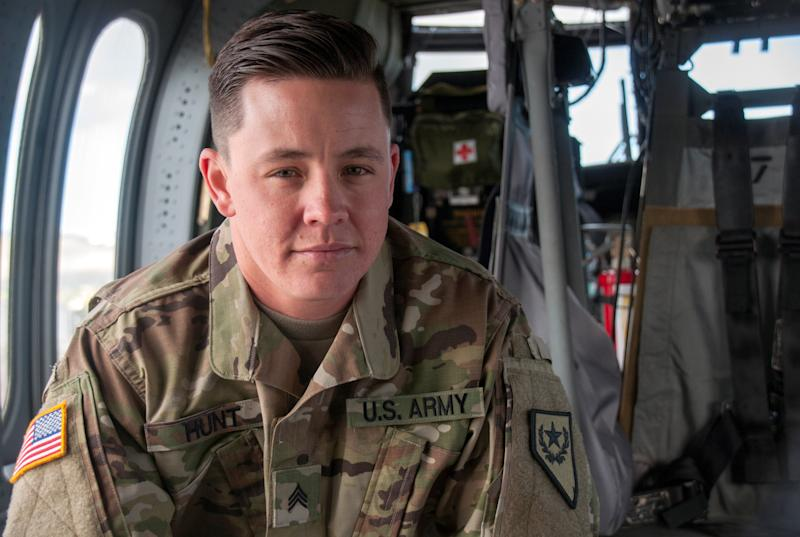 "Sgt. Sam Hunt is the first openly transgender soldier in the Nevada Army National Guard. ""When President Obama removed the ban last year, I felt I could openly serve as a man,"" Hunt said."