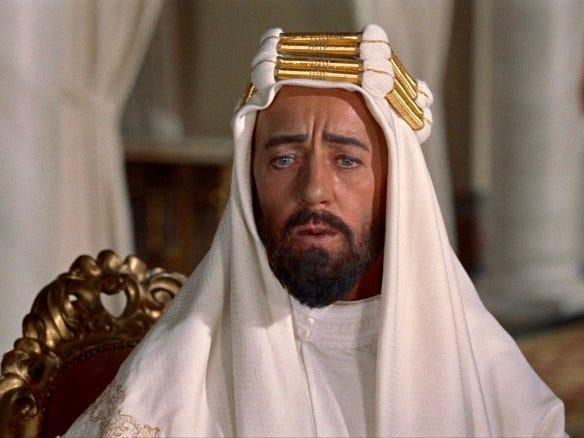 Alec Guinness Prince Faisal lawrence of arabia