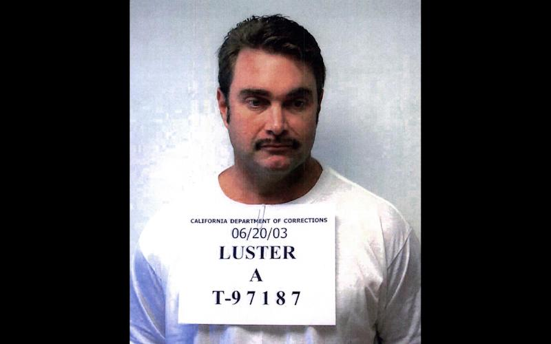 FILE - Cosmetics heir and former fugitive Andrew Luster, who was convicted of drugging and raping three women, is shown in this California Department of Corrections photo in this June 20, 2003 file photo. A California judge who threw out the 124-year prison term of an heir to the Max Factor fortune convicted of drugging and raping three women will hear arguments Tuesday April 16, 2013 on a new sentence for Andrew Luster.   (AP Photo/California Department of Corrections, FILE)