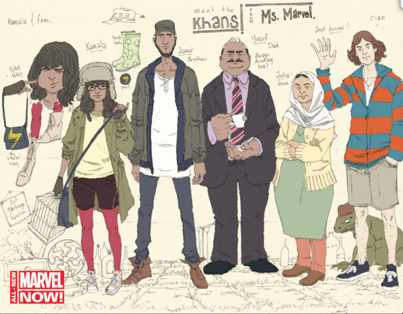 The Khan family from Ms. Marvel