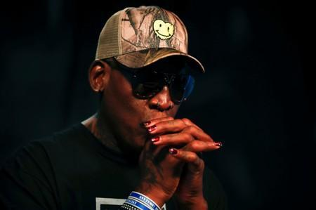 Former NBA player Dennis Rodman poses for a portrait in Los Angeles